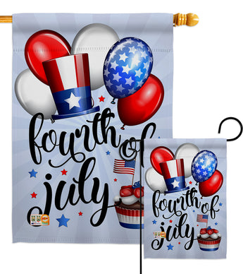 Celebrate Fourth Of July - Fourth of July Americana Vertical Impressions Decorative Flags HG111079 Made In USA