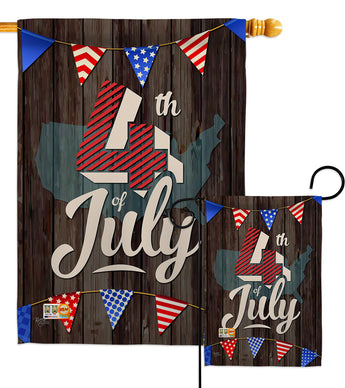 4th of July - Fourth of July Americana Vertical Impressions Decorative Flags HG111081 Made In USA