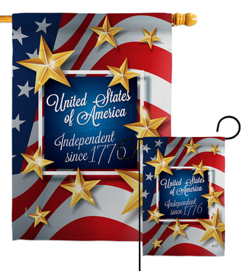 Independence Since 1776 - Fourth of July Americana Vertical Impressions Decorative Flags HG137219 Made In USA