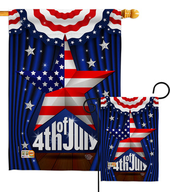 Stars 4th of July - Fourth of July Americana Vertical Impressions Decorative Flags HG192075 Made In USA
