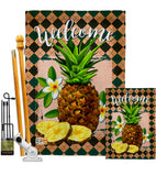 Welcome Pineapple - Fruits Food Vertical Impressions Decorative Flags HG137026 Made In USA