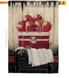 Ruby Red Country Apple - Fruits Food Vertical Impressions Decorative Flags HG117046 Made In USA