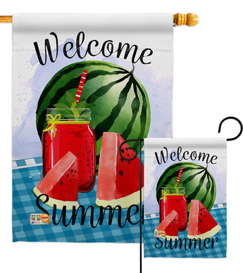 Watermelon Summer - Fruits Food Vertical Impressions Decorative Flags HG137023 Made In USA
