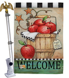 Apple Basket - Fruits Food Vertical Impressions Decorative Flags HG117039 Made In USA