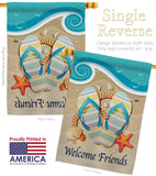 Sunny Friends - Fun In The Sun Summer Vertical Impressions Decorative Flags HG106060 Made In USA