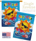 Fun in the Sun - Fun In The Sun Summer Vertical Impressions Decorative Flags HG106069 Made In USA