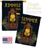 Summer Night Lantern - Fun In The Sun Summer Vertical Impressions Decorative Flags HG106082 Made In USA