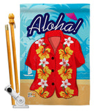 Paradise Shirt - Fun In The Sun Summer Vertical Impressions Decorative Flags HG106072 Made In USA