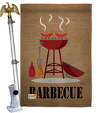 Barbecue - Fun In The Sun Summer Vertical Impressions Decorative Flags HG106076 Made In USA
