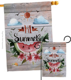 Hi Summer - Fun In The Sun Summer Vertical Impressions Decorative Flags HG137017 Made In USA