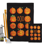 Pumpkins Boo - Halloween Fall Vertical Impressions Decorative Flags HG112071 Made In USA