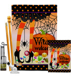 Witches Welcome - Halloween Fall Vertical Impressions Decorative Flags HG137069 Made In USA