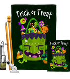 Sweet Monster Treat - Halloween Fall Vertical Impressions Decorative Flags HG192284 Made In USA