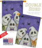 3 Ghosts - Halloween Fall Vertical Impressions Decorative Flags HG112055 Made In USA