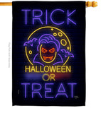 Halloween Dracula - Halloween Fall Vertical Impressions Decorative Flags HG112087 Made In USA