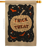 Eerie Trick Or Treat - Halloween Fall Vertical Impressions Decorative Flags HG137093 Made In USA