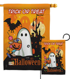 Little Ghost - Halloween Fall Vertical Impressions Decorative Flags HG112051 Made In USA