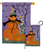 Happy Pumpkin Trio - Halloween Fall Vertical Impressions Decorative Flags HG112084 Made In USA