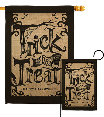 Halloween Trick - Halloween Fall Vertical Impressions Decorative Flags HG112100 Made In USA
