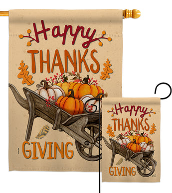 Fall Pumpkins - Halloween Fall Vertical Impressions Decorative Flags HG137298 Made In USA