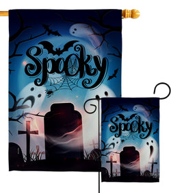Spooky Night - Halloween Fall Vertical Impressions Decorative Flags HG192287 Made In USA