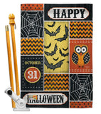 Halloween Happy - Halloween Fall Vertical Impressions Decorative Flags HG112060 Made In USA
