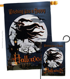 Happy Witching You - Halloween Fall Vertical Impressions Decorative Flags HG112004 Made In USA