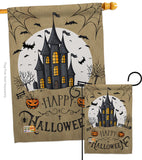 Halloween Castle - Halloween Fall Vertical Impressions Decorative Flags HG137126 Made In USA