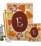 Autumn E Initial - Harvest & Autumn Fall Vertical Impressions Decorative Flags HG130031 Made In USA