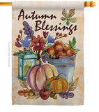 Autumn Blessings - Harvest & Autumn Fall Vertical Impressions Decorative Flags HG113006 Made In USA
