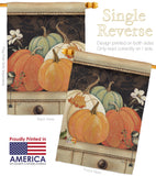 October Pumpkins - Harvest & Autumn Fall Vertical Impressions Decorative Flags HG113068 Made In USA