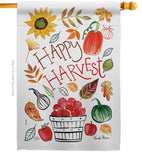 Happy Harvest - Harvest & Autumn Fall Vertical Impressions Decorative Flags HG113073 Made In USA