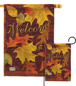 Fall Leaves - Harvest & Autumn Fall Vertical Impressions Decorative Flags HG113047 Made In USA