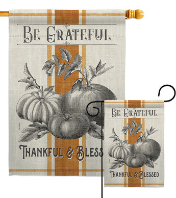 Autumn Farmhouse - Harvest & Autumn Fall Vertical Impressions Decorative Flags HG113097 Made In USA