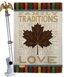 Family Traditions - Harvest & Autumn Fall Vertical Impressions Decorative Flags HG113078 Made In USA