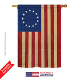Betsy Ross Vintage - Historic Americana Vertical Impressions Decorative Flags HG108068 Printed In USA