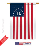 Bennington - Historic Americana Vertical Impressions Decorative Flags HG108233 Printed In USA