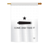 Come and Take It Canon - Historic Americana Vertical Impressions Decorative Flags HG108378 Printed In USA