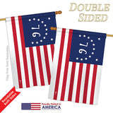 Bennington - Historic Americana Vertical Impressions Decorative Flags HG140703 Printed In USA