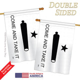 Come And Take It - Historic Americana Vertical Impressions Decorative Flags HG140718 Printed In USA