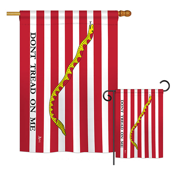 First Navy Jack - Historic Americana Vertical Impressions Decorative Flags HG140701 Printed In USA