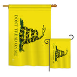 Gadsden - Historic Americana Vertical Impressions Decorative Flags HG140715 Printed In USA