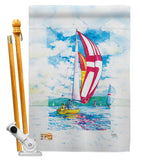 Sailboats - Hobbies Interests Vertical Impressions Decorative Flags HG109041 Made In USA