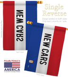 New Cars - Merchant Special Occasion Vertical Impressions Decorative Flags HG140807 Made In USA