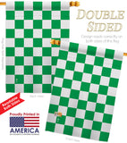 Green Checker - Merchant Special Occasion Vertical Impressions Decorative Flags HG140825 Made In USA