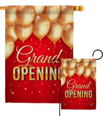 Grand Opening Balloon - Merchant Special Occasion Vertical Impressions Decorative Flags HG192585 Made In USA