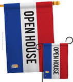 Open House - Merchant Special Occasion Vertical Impressions Decorative Flags HG140783 Made In USA