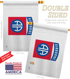 82nd. Airborne - Military Americana Vertical Impressions Decorative Flags HG140316 Made In USA