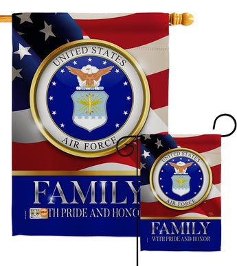US Air Force Family Honor - Military Americana Vertical Impressions Decorative Flags HG108425