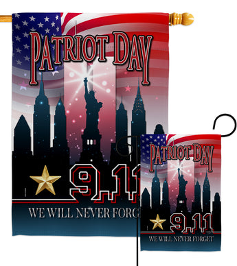 We Will Never Forget - Military Americana Vertical Impressions Decorative Flags HG108443 Made In USA